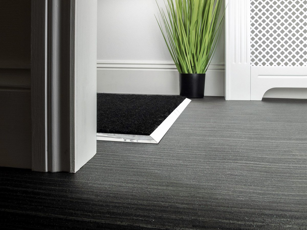 Matt Well Frame Chrome, Pewter, Black and Nickel Rug