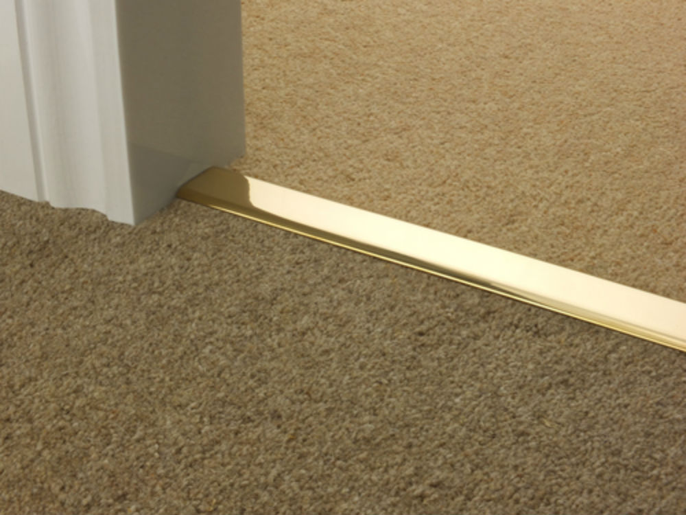 Z Door Bars in Brass, Antique, Satin and Bronze Double Z Carpet to Carpet Rug