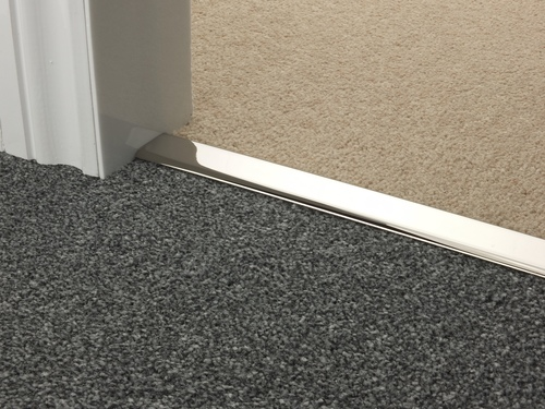 Z Door Bars in Chrome, Nickel, Pewter and Black Double Z Carpet to Carpet Rug