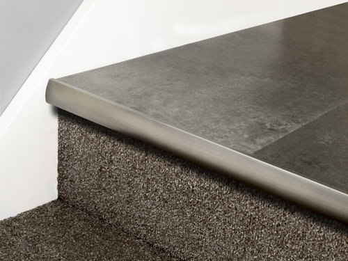 Stair Nose LVT Full Bull Chrome, Nickel, Pewter, Black