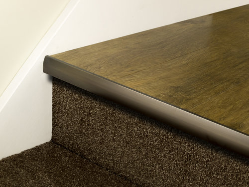Stair Nose LVT Full Bull Brass Finishes